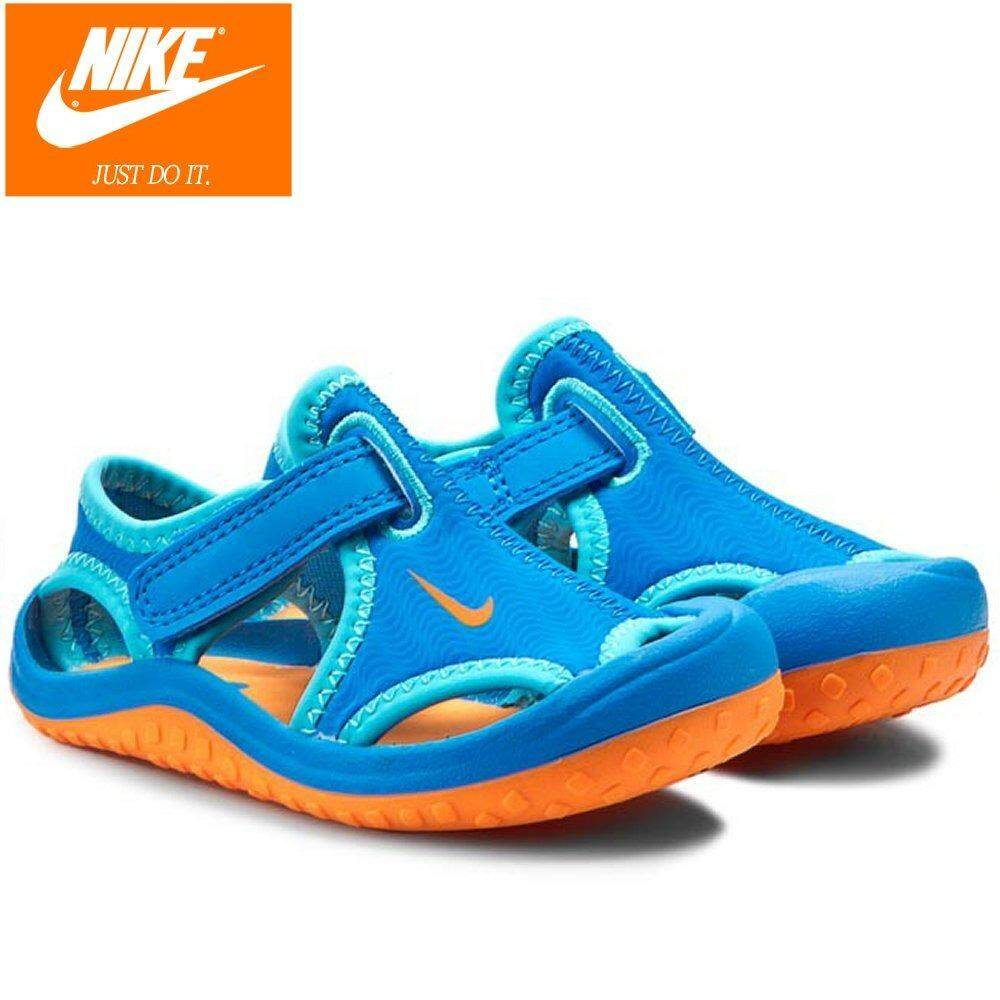 Nike Toddler Sunray Protect Td 344925-418 Blue Sandals By Cns114.