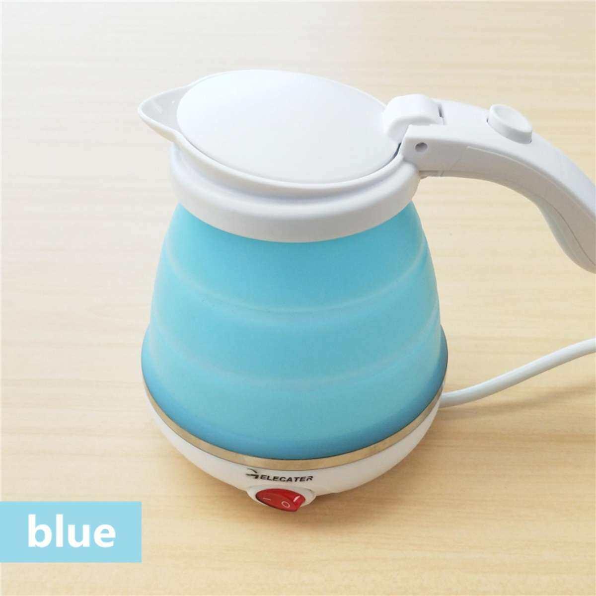 Collapsible Dual Voltage Mini Travel Kettle, 0.5 Litre, 800 W, Blue