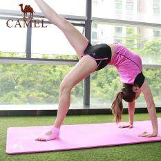 Camel 10mm yoga Pilates mat with carrying bag anti-slip beginner sports fitness mat thickening widening and lengthening