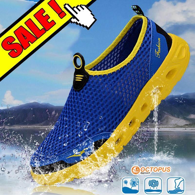 Yealon Sepatu Sneaker Luar Ruangan Pria Jaring-jaring Musim Panas Sepatu  Hulu Sepatu Wanita Sepatu 7da8384247