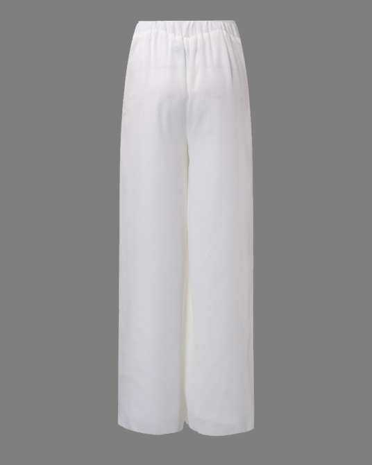 ZANZEA Women Chiffon High Waist Palazzo Pants Wide Legs Loose Casual Long Trousers White - intl