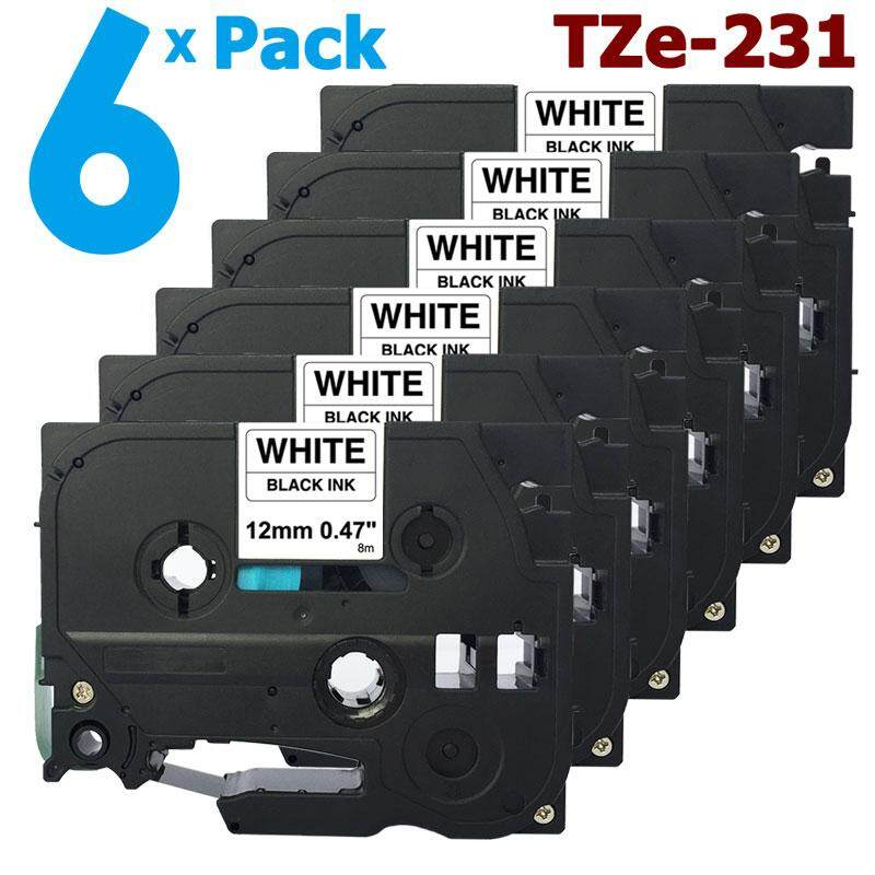 15 x Brother Compatible TZ231 TZ-231 P-Touch 12mm Gloss Tape Black on White