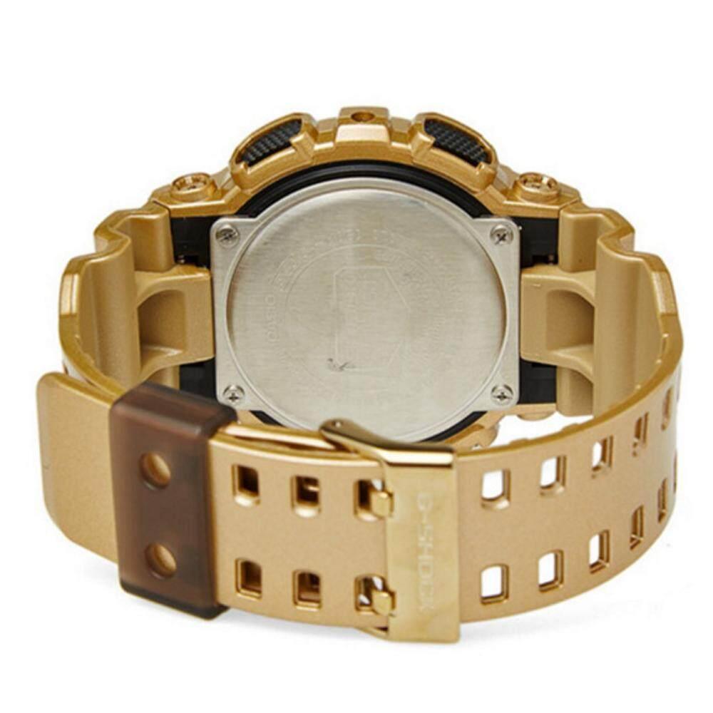 ยี่ห้อนี้ดีไหม  พิษณุโลก 【 STOCK】Original _ Casio_G-Shock สีทอง Dial สีทองเรซิ่นควอตซ์นาฬิกาสำหรับผู้ชาย GA200GD-9A