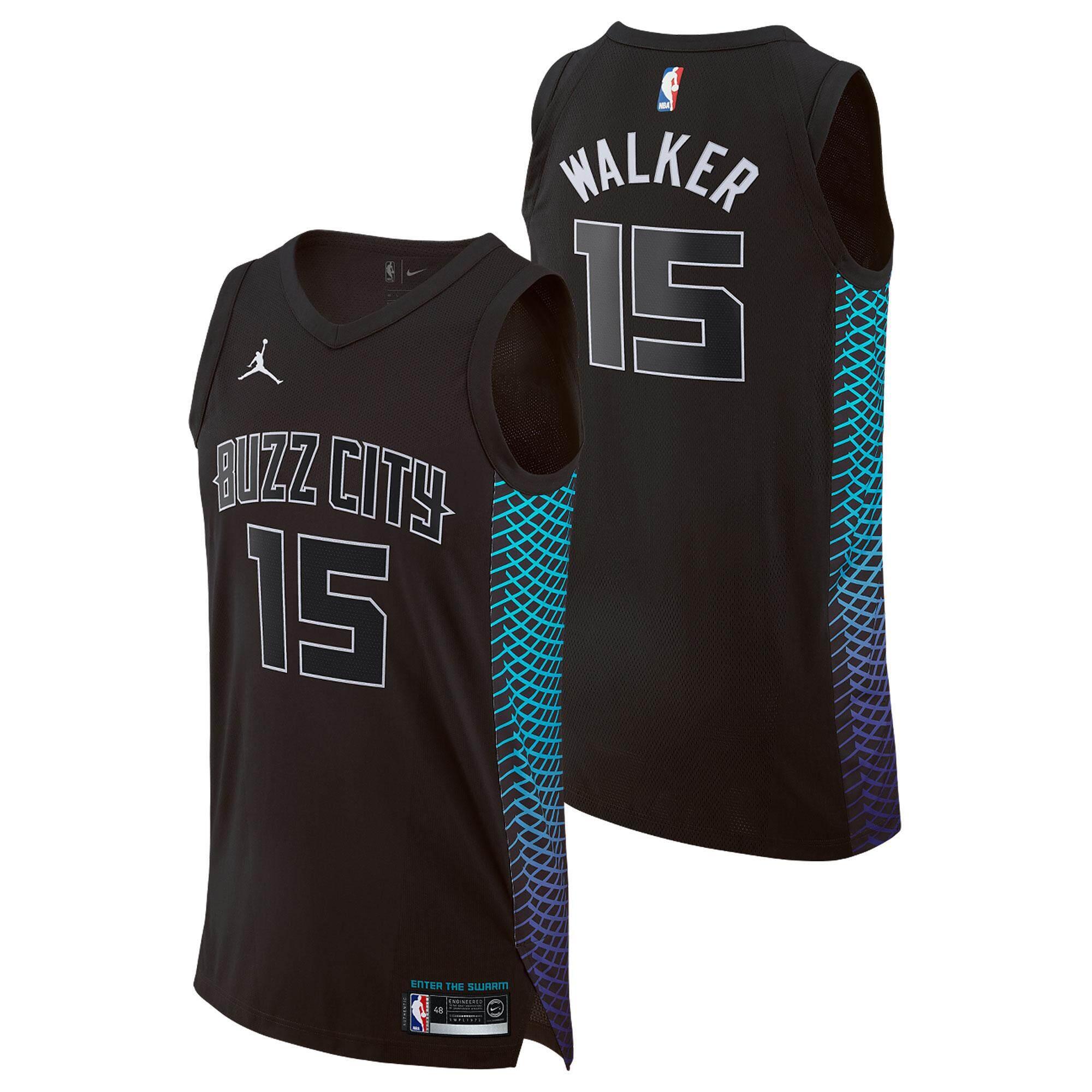NBA Int S Aqua Hardwood Classics Men s Charlotte Hornets Basketball Clothes  Kemba Walker Num 15 Swingman 4fa9563bf