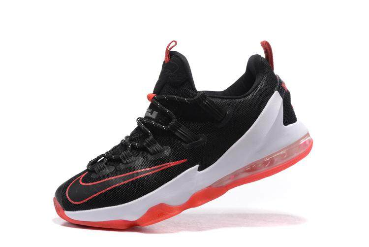 reputable site 8d357 3ca1c Discount Nike  LeBron 13 Men s Breathable Running Sneaker Comfortable Basketball  Shoes (Black Red)