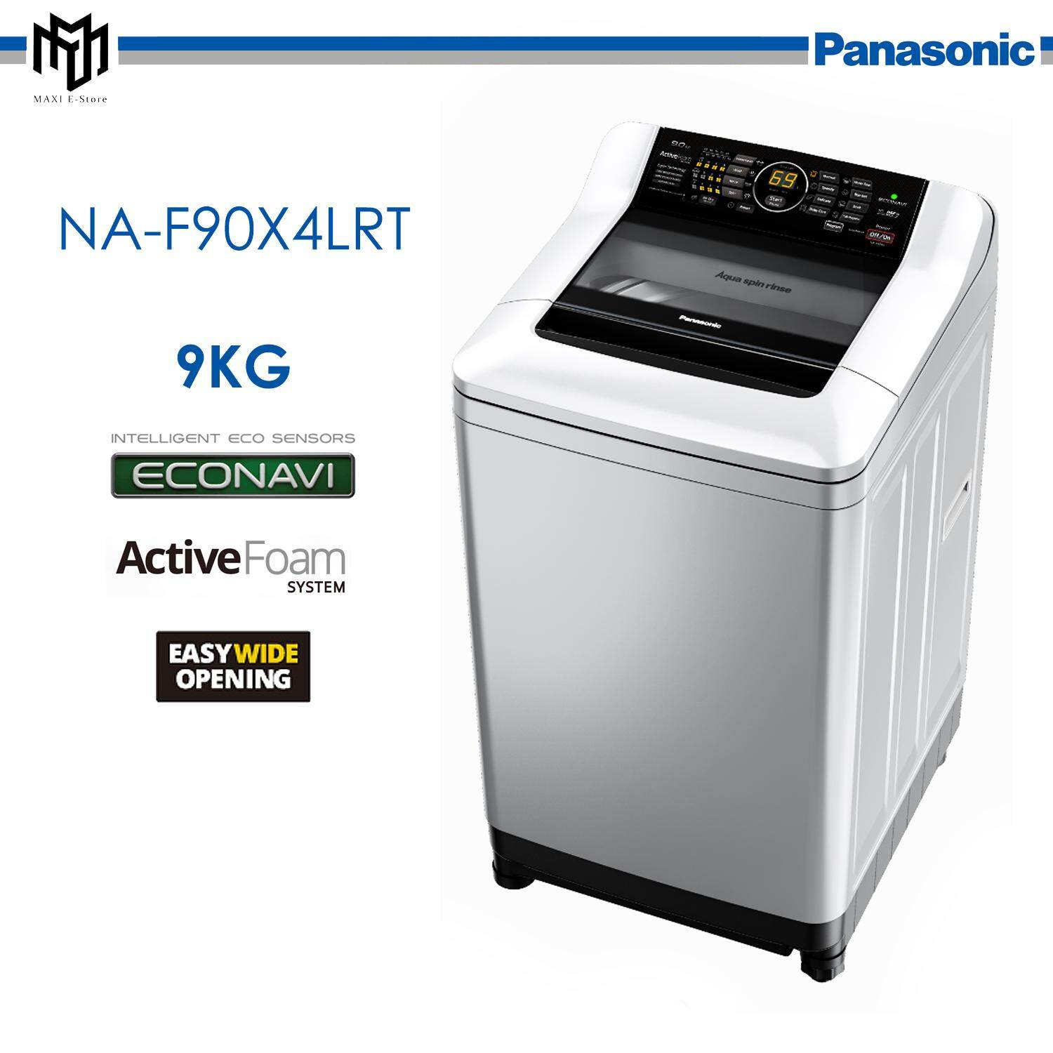 Panasonic 9.0KG Top Load Washing Machine with Active Foam ECONAVI NA-F90X4LRT