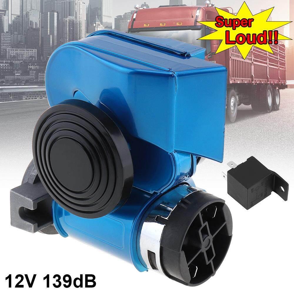 Glossy Biru Oblique Speaker Siput Kompak Dual Bel Udara 12 V 139DB untuk Kendaraan Mobil/Sepeda Motor/Sepeda Motor ATV