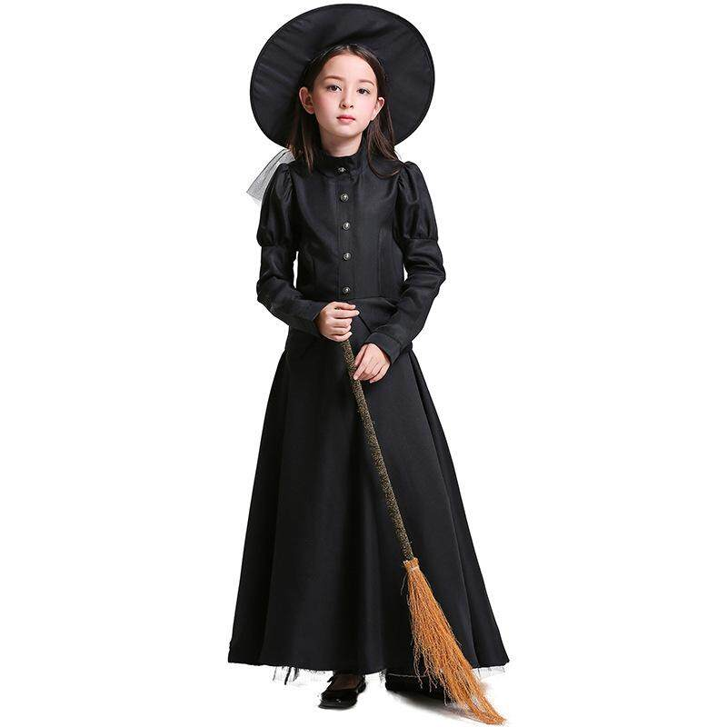 Dolaplay Brand The Wizard of Oz Halloween Costume Stage Performance Adult Children COS Black Witch Witch Plays Parent-child Clothing