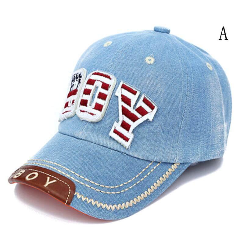 Summer Kids Baseball Cap Baby Boys Girls Caps Letter Boy Jean Denim Caps Sun Hat