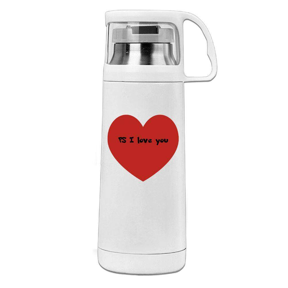 PS: I Love YouHAERS Office Cup Men Women Business Cup Stainless Steel Vacuum Cup With Lid Water Bottle