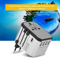 Charger Plug Adapter Universal Travel Adapter Plug Worldwide 4 Port USB Wall Charger with AC Power Adapter Plug Type – intl