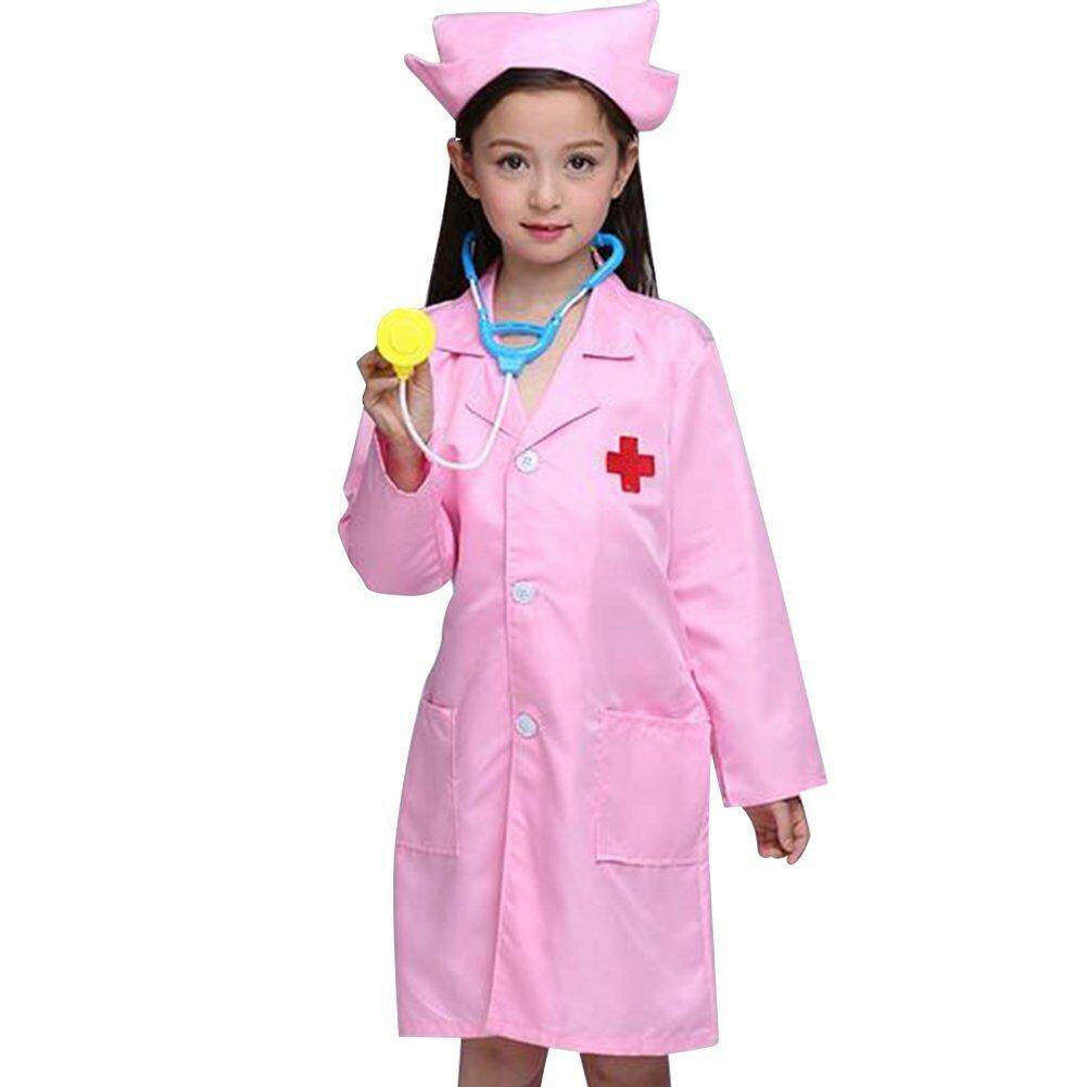 Halloween Costumes For Kids Girls 11 And Up.Children Lab Coat Kids Doctor Role Play Halloween Costumes Dress Up Set Intl