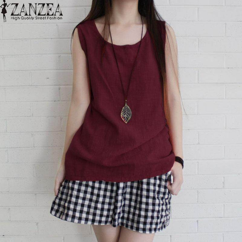 ZANZEA Women Sleeveless Tank Tops Casual Solid Blouse Shirt Tops Cami Camisole - intl เสื้อเบลาส์และเสื้อเชิ้ต