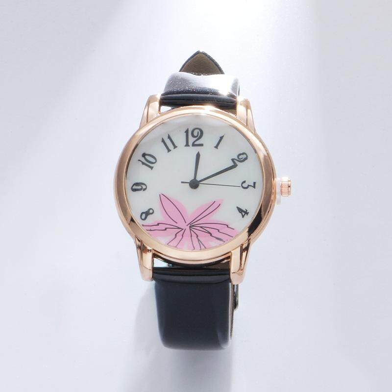 High quality quartz watch women's personality watch clothing accessories wild female form(red)