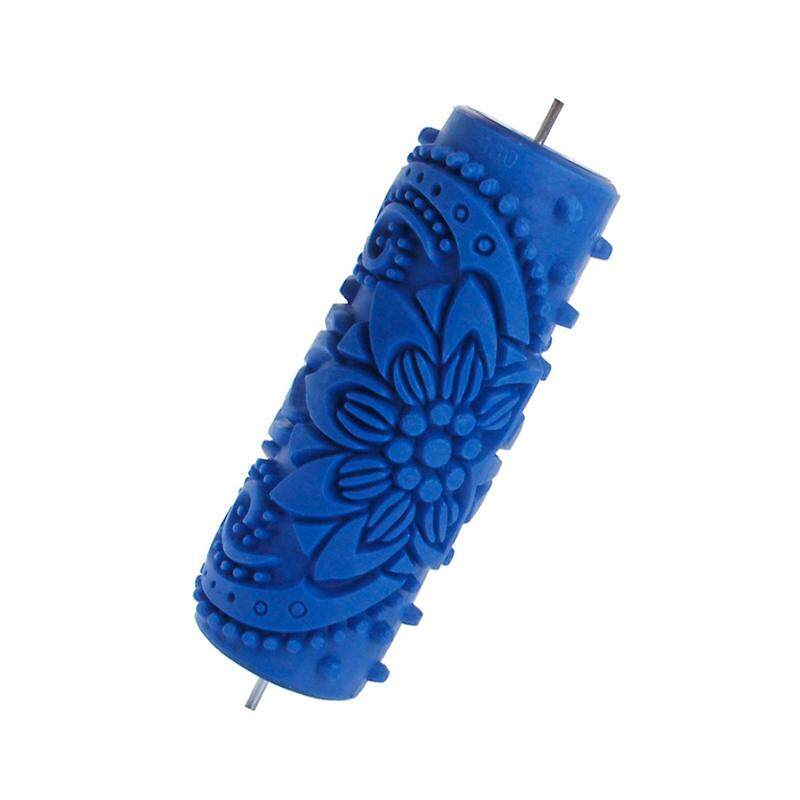 15cm Flower Knurled Relief Paint Roller Wallpaper Tool for DIY Wall Shaping