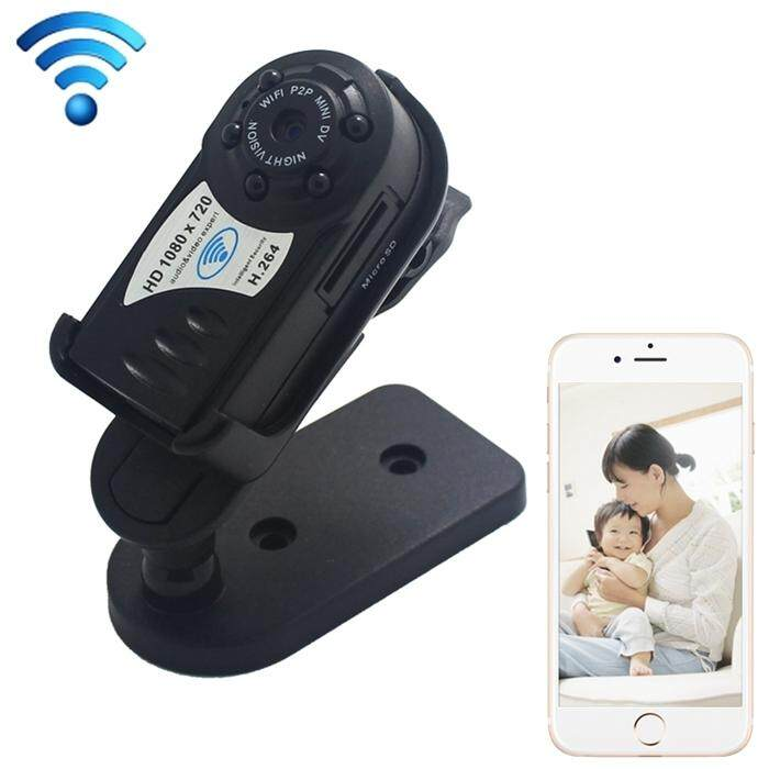 Q8S Multi-devices HD 1080*720 Remote Wireless WiFi P2P Mini DV Phones Monitoring, Support Night Vision & Micro SD Card