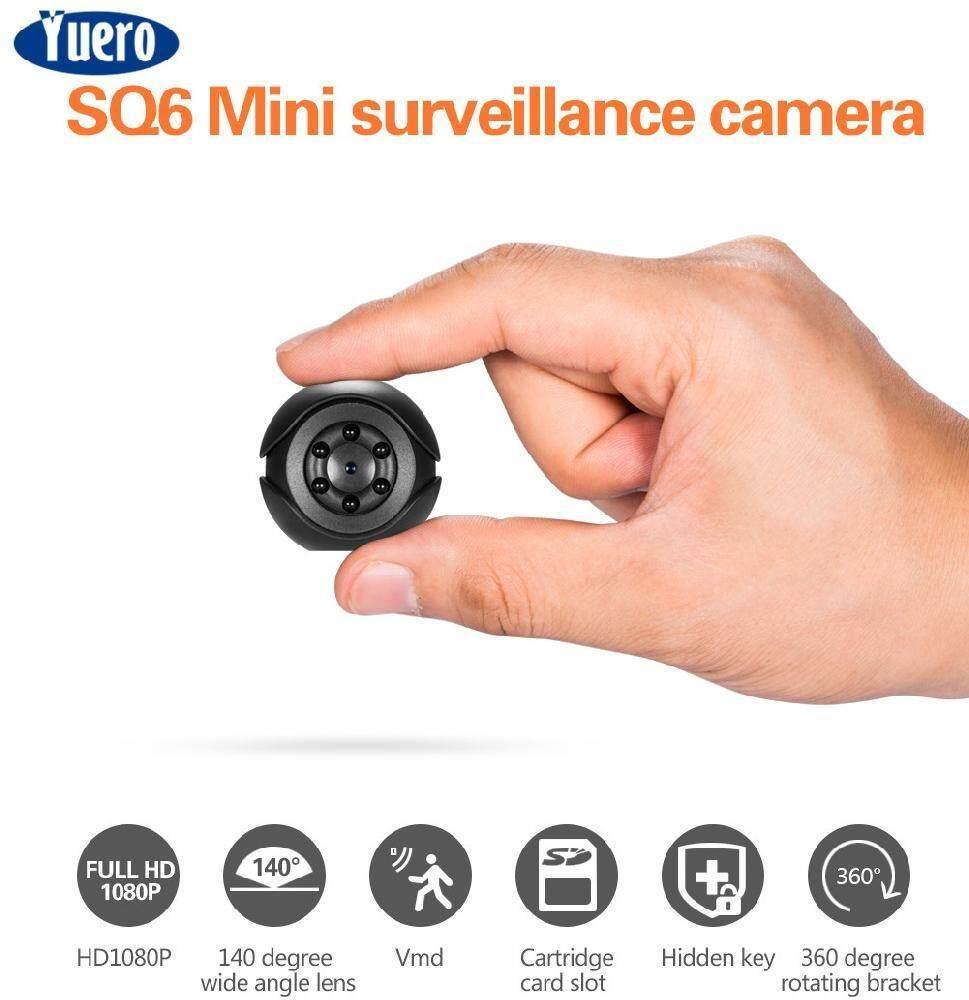 SQ6 Mini Surveillance Camera Full HD 1080P Hidden Spy IR Night Vision JL