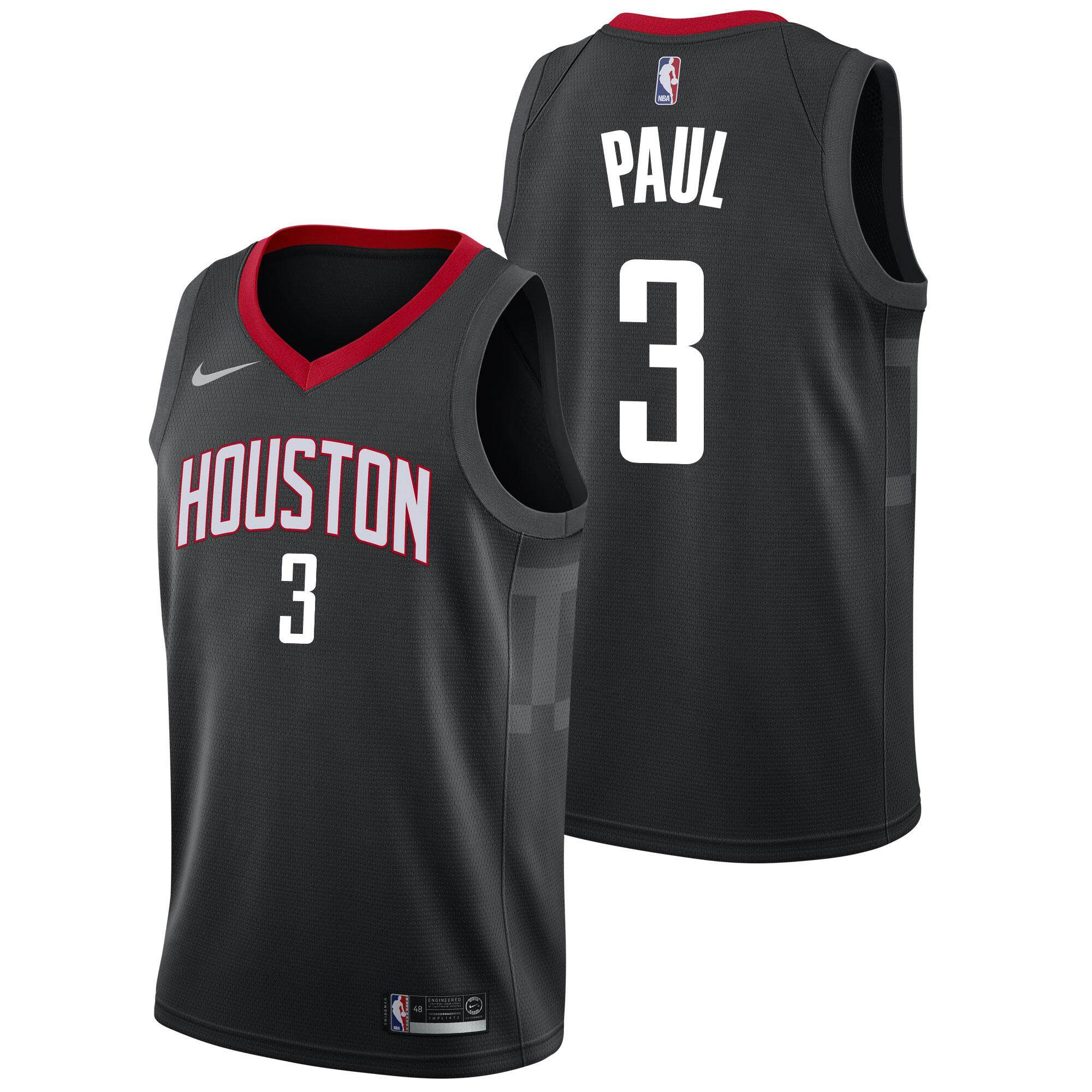 955190ab564 DUK Size small White Basketball Clothes Swingman Jersey Mens Number 3 NBA  Houston Rockets Chris Paul