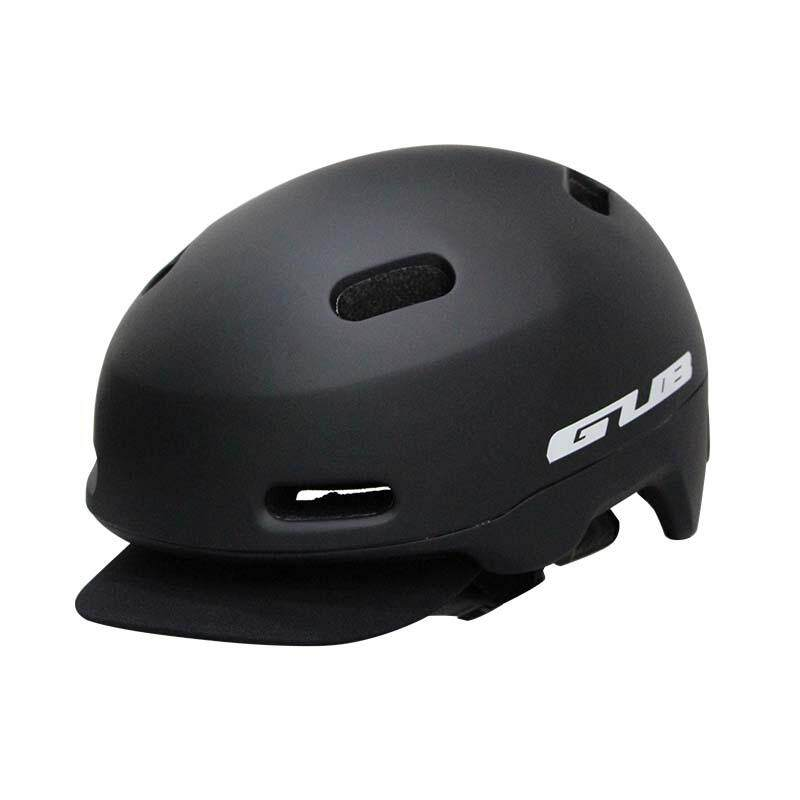 Light Weight City Road Cycling Helmet with Taillights Night Safety MTB Removable Visor Bike Helmets Urban Leisure Helmet