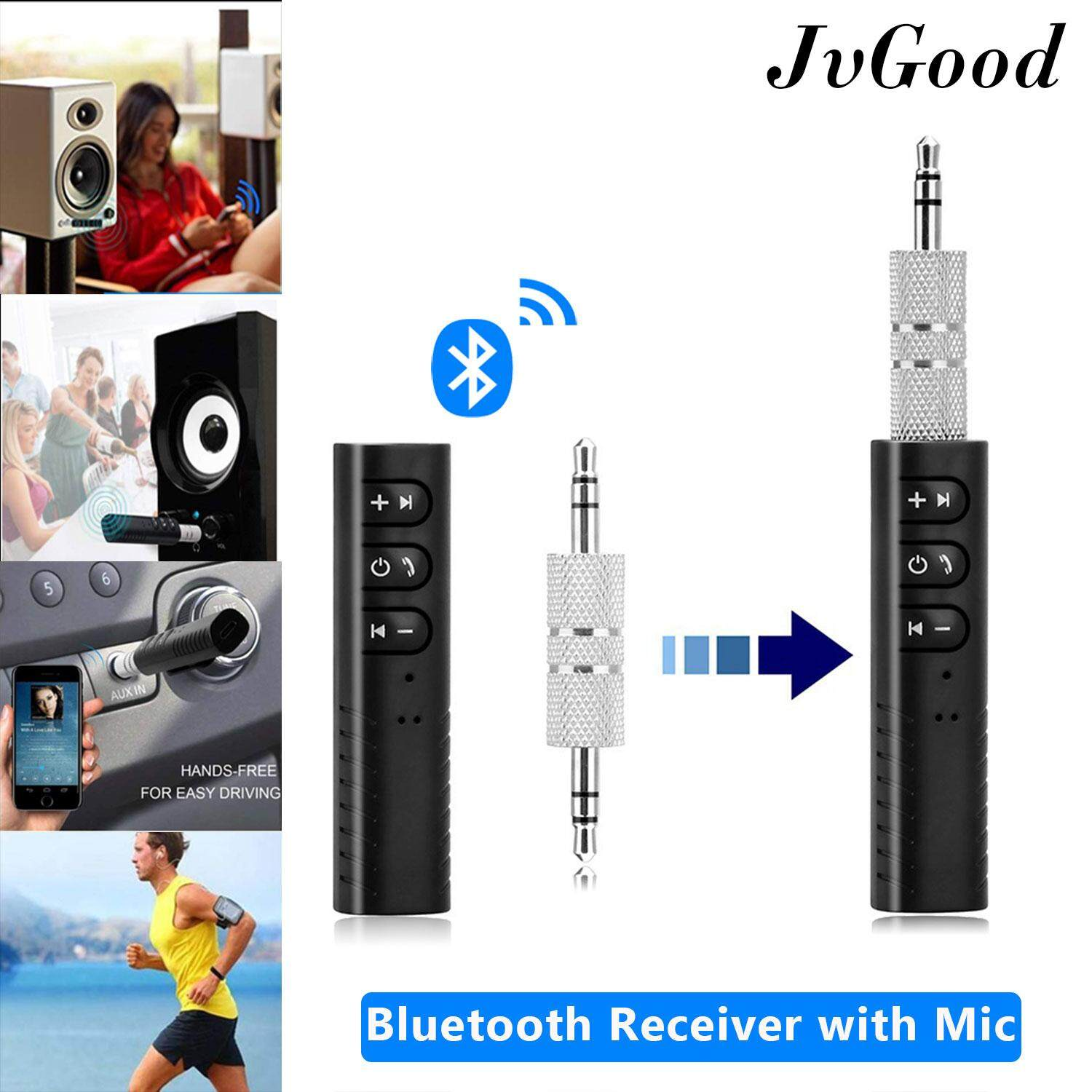 Wireless BT Audio Music Receiver 3.5mm Adapter Car Stereo AUX Speaker US