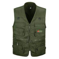 Middle-aged vest men's multi-pocket vest