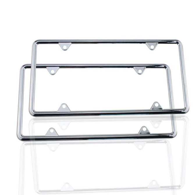 Miracle Shining Zinc Alloy License Plate Frame Holder Standard Size for US Car