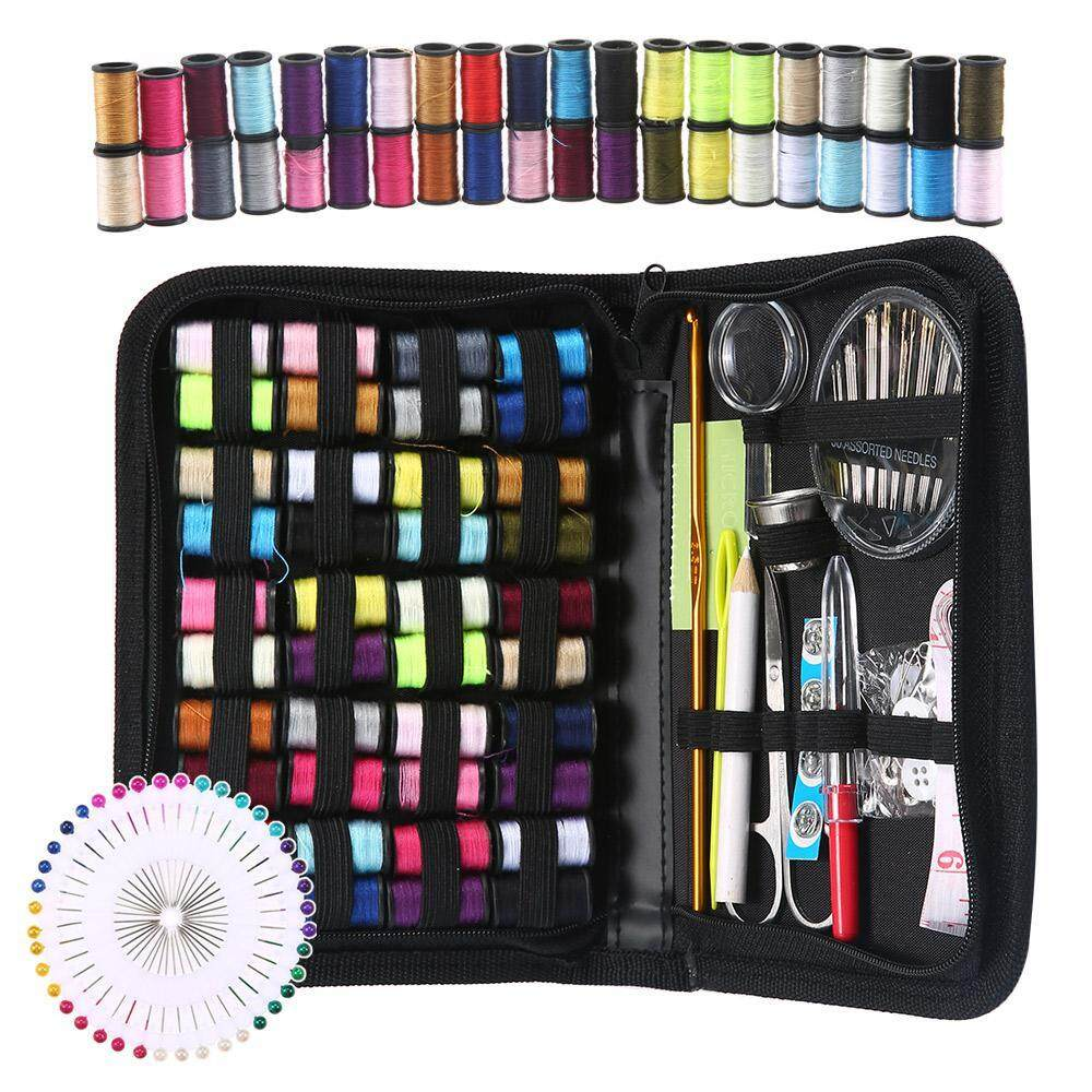 US 128Pcs Portable Sewing Kit Home Travel Emergency Professional Sewing Tool Kit
