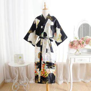 Đồ Ngủ Nữ, Áo Choàng Tắm Sa Tanh Dài Áo Choàng Kimono Phù Dâu Cô Dâu Đám Cưới Cô Dâu thumbnail