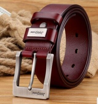 Fashion Men's Pin Buckle Belt Leather Cowhide Leather Head Business Young Men's Casual Belt