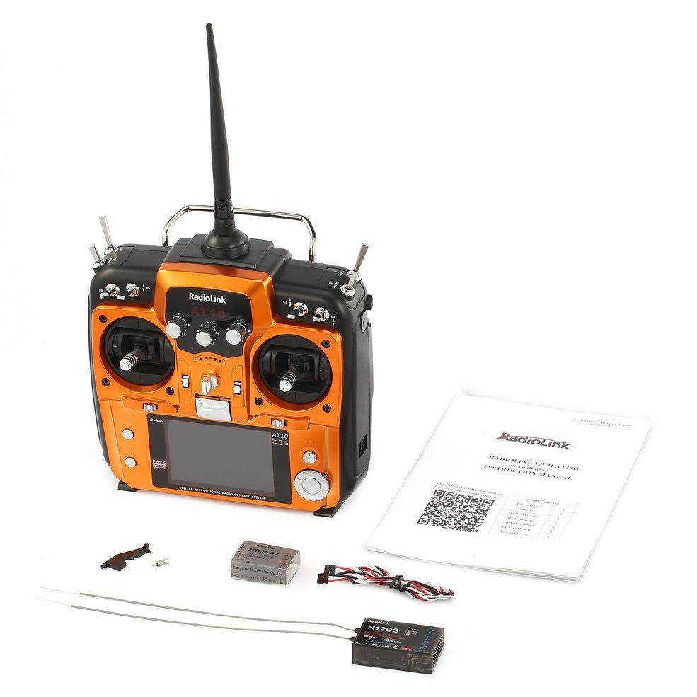 Radiolink AT10II 2.4G 12CH RC Transmitter Radio with R12DS Receiver RPM-01