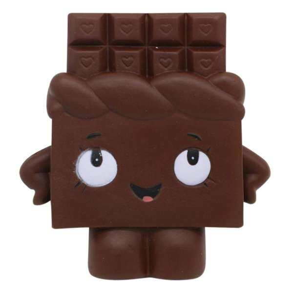Tertran Squishy Chocolate Toast Scented Charm Slow Rising Squeeze Stress Reliever Toy BK