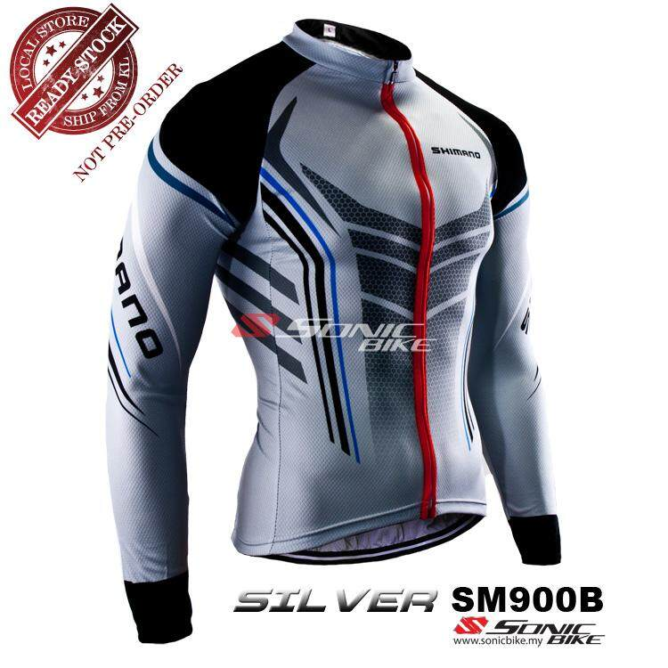 READY STOCK [ FREE RETURN ] Shimano Long Sleeve Cycling Jersey - SM900S