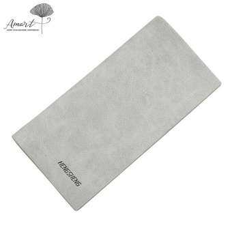 Amart Fashion Men Slim Wallet Long Thin PU Leather Wallet Purse Soft Money Bag Small Pocket Coin Cards Holder-