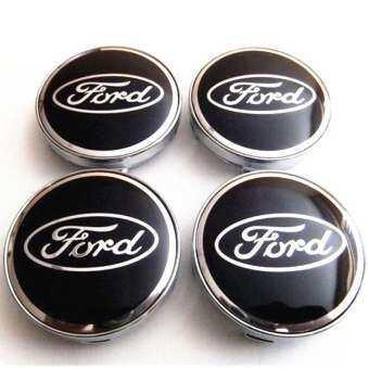 4 ชิ้น/เซ็ต 60 มิลลิเมตร Ford สติ๊กเกอร์ติดล้อหมวกตรารถยนต์รูปลอกขอบหมวกศูนย์ล้อรถหมวก-