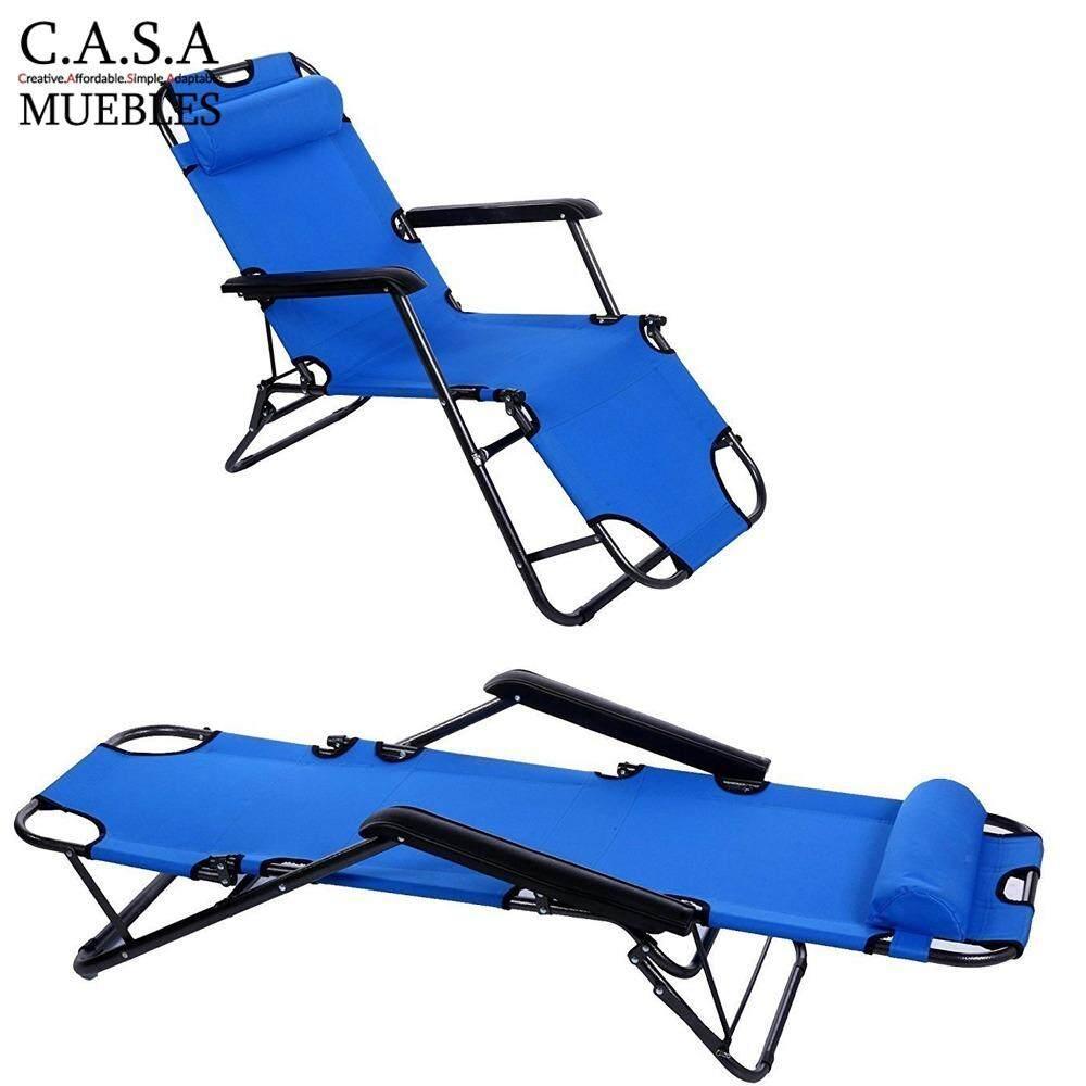 Casa Muebles Chaise Lounge Lazy Chair Dark Blue Lazada # Muebles Positive