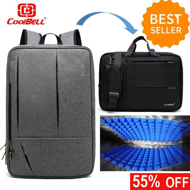 5d61e2309083 CoolBELL Convertible Messenger Bag Backpack Shoulder bag Laptop Case Handbag  Business Briefcase Multi-functional Travel