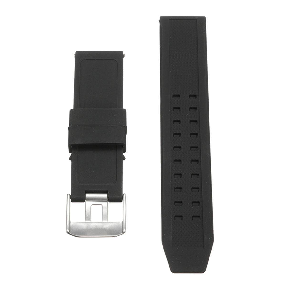 23mm Silicone Rubber Black Watch Band Strap Bracelet For Luminox Replacement - intl