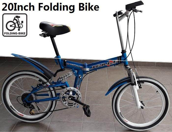 20 inch Wheel Folding Bike 7 Speed Foldable Bicycle High Carbon Steel Frame Bicycle MTB Mountain Bike Cycling MTB For Adult or Kids Basikal Berlipat