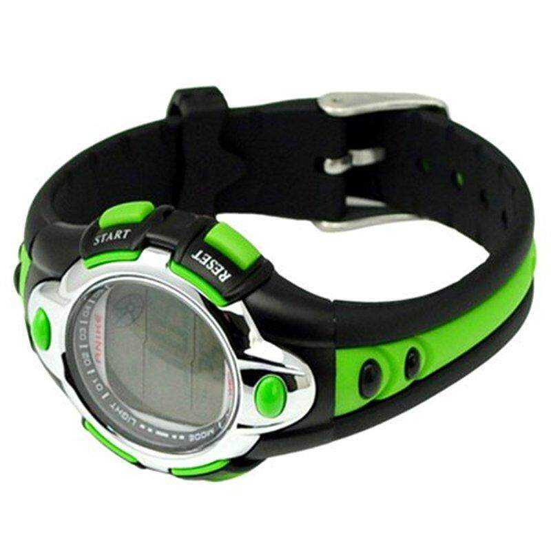 OS Kids Watches Flash Lights 50m Waterproof Chronograph Digital Sports Watch Green Int: One size