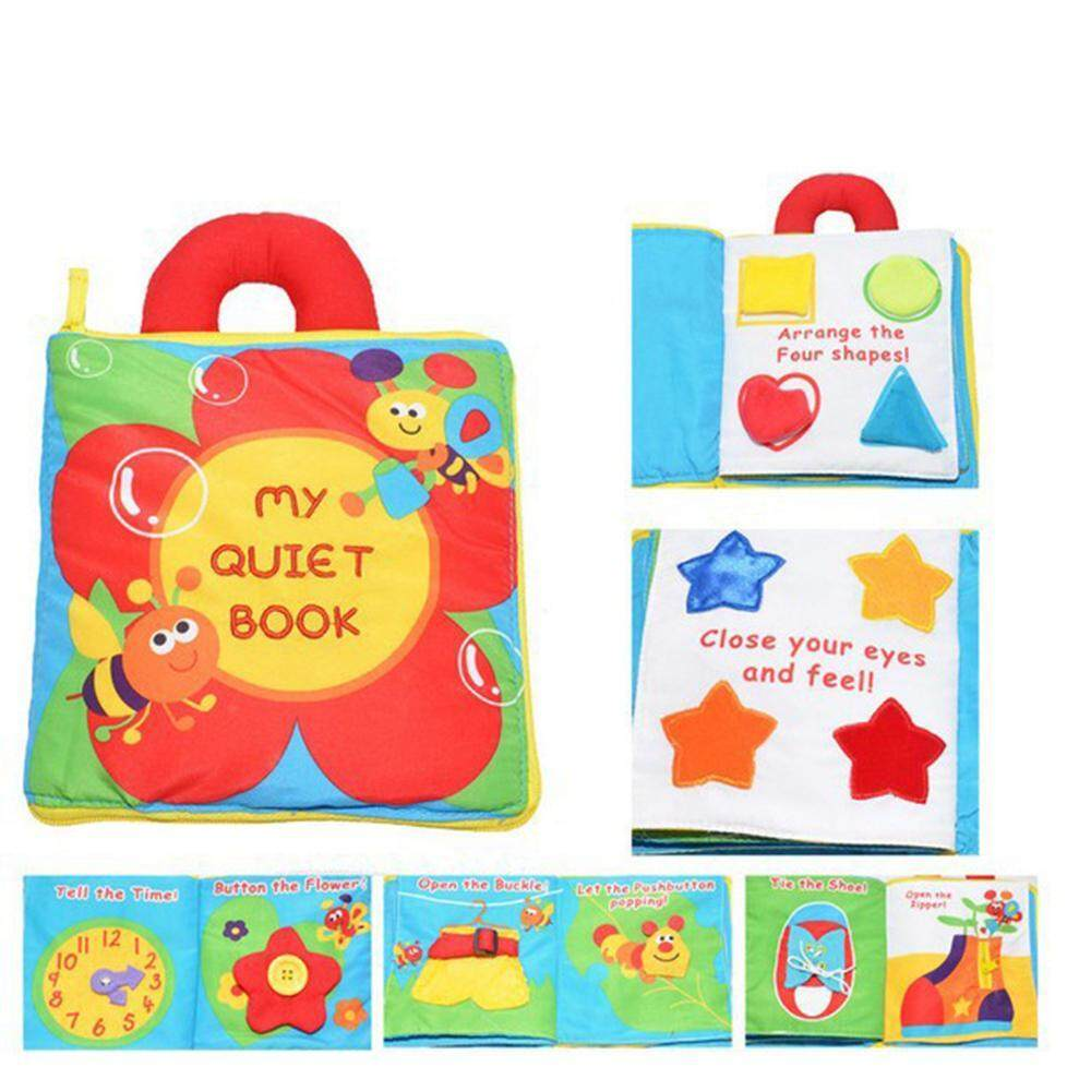 OrzBuy Multi-functional Infant Baby Early Learning Educational Cloth Book Colorful Animals Flower Books