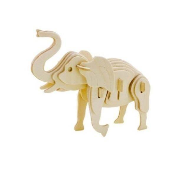 Animal 3D Three-Dimensional Wooden Jigsaw Puzzle Modeldevelopment Toy(Elephant)
