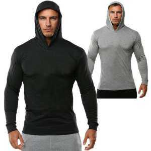 Hình ảnh Fs Big Sale Men Long Sleeve Solid Color Hoodie Simple Casual Sports Hooded Sweatshirt