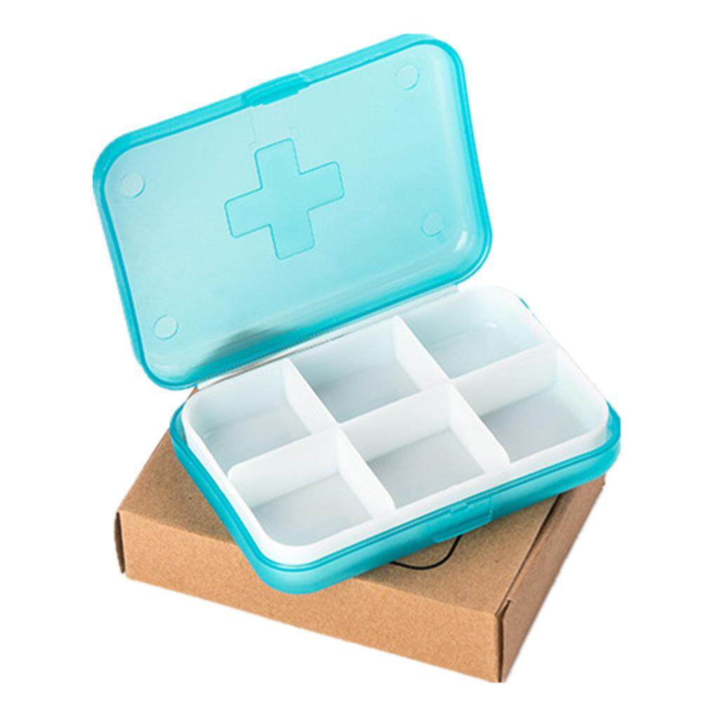 Mini 6 Slots Portable Medical Pill Box Drug Medicine Case Organizer
