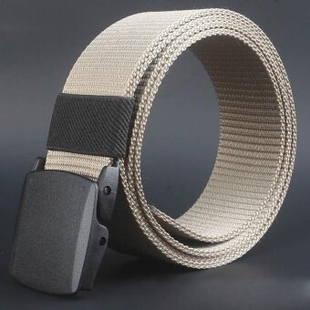 Wild-Men-Canvas-Belt-Hypoallergenic-Metal free-Plastic-Automatic-Buckle KI