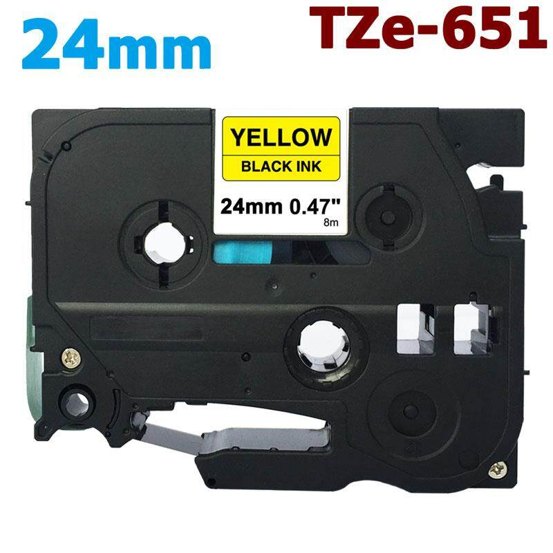 Brother Compatible TZ651 P-Touch PT9400 PT9500PC 24mm Black//Yellow Tape