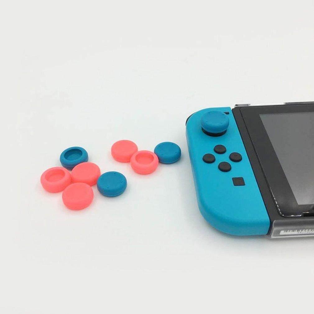 Hot Bán Hàng Silicone Mềm Gel Ngón Tay Cái Dán Nắp Capo Chơi Game Joystick Dành Cho Nintend Công Tắc