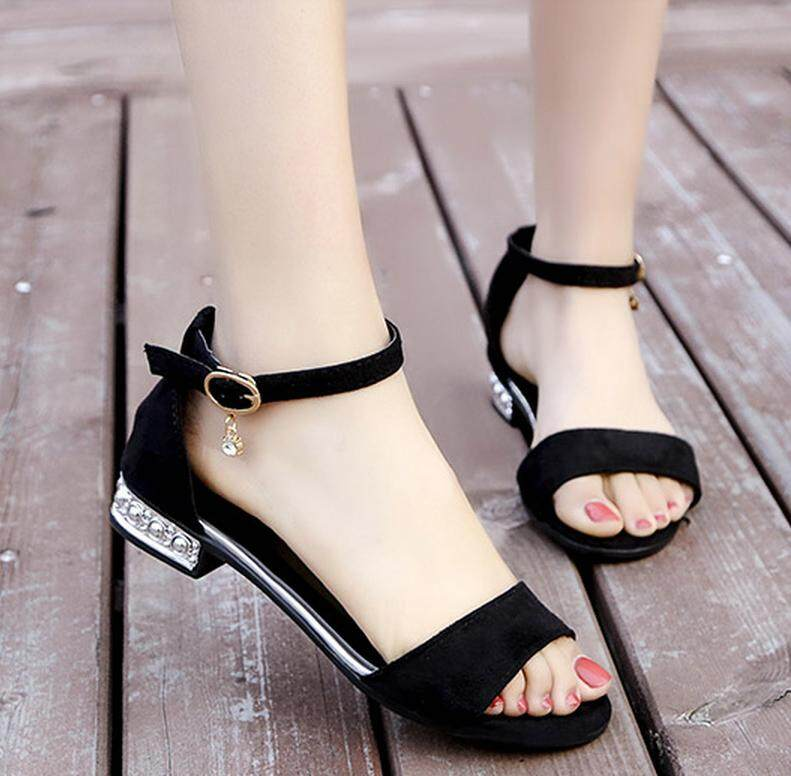 f46867801c4b New flat shoes buckle sandals Rome shoes for women students