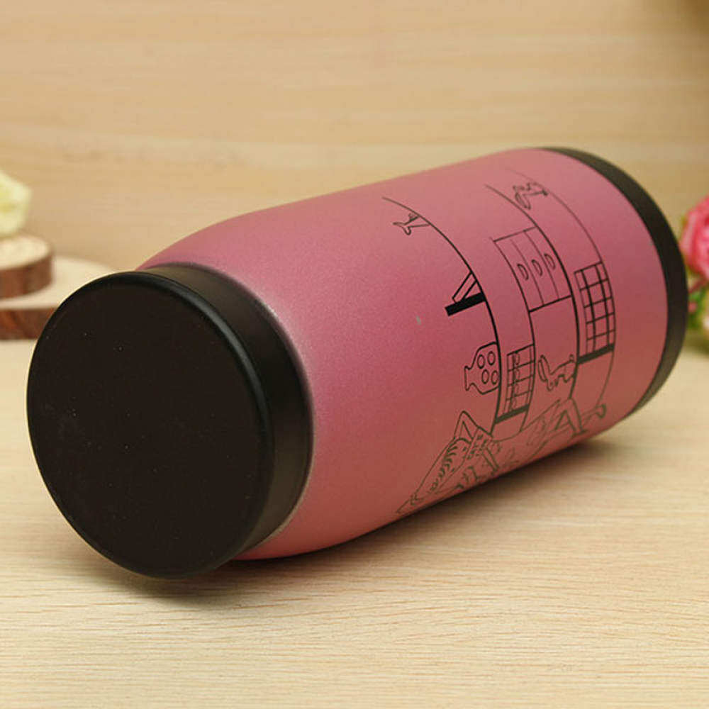 HKS Cartoon Stainless Vacuum Pink Insulated Thermoses Flasks Mug