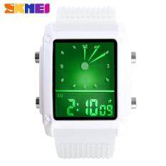SKMEI Fashion Men Sports Watches Dual Time Digital Quartz 30m Waterproof LED Colorful Backlight Casual Dress Men Wristwatch 0814