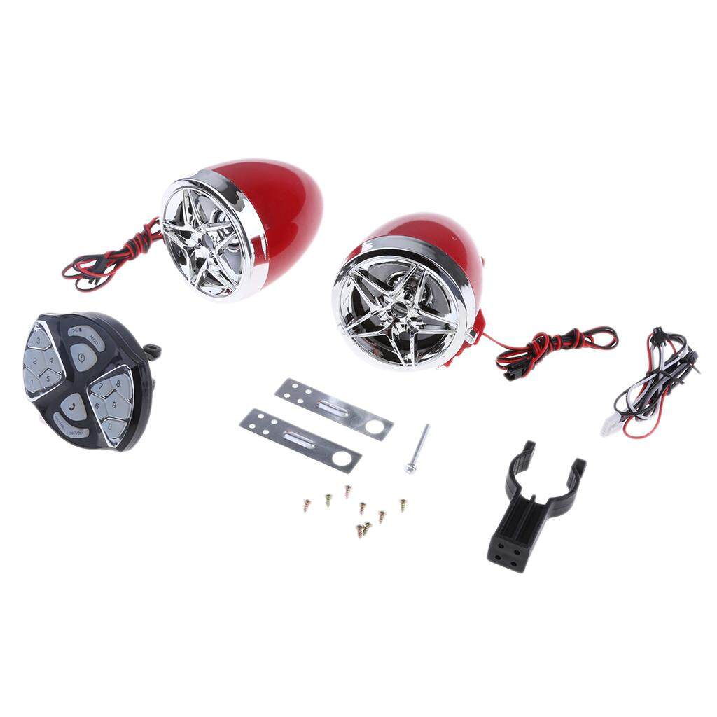 Miracle Shining Motorcycle Audio Sound System MP3 FM Radio Stereo Speakers Kit - Waterproof